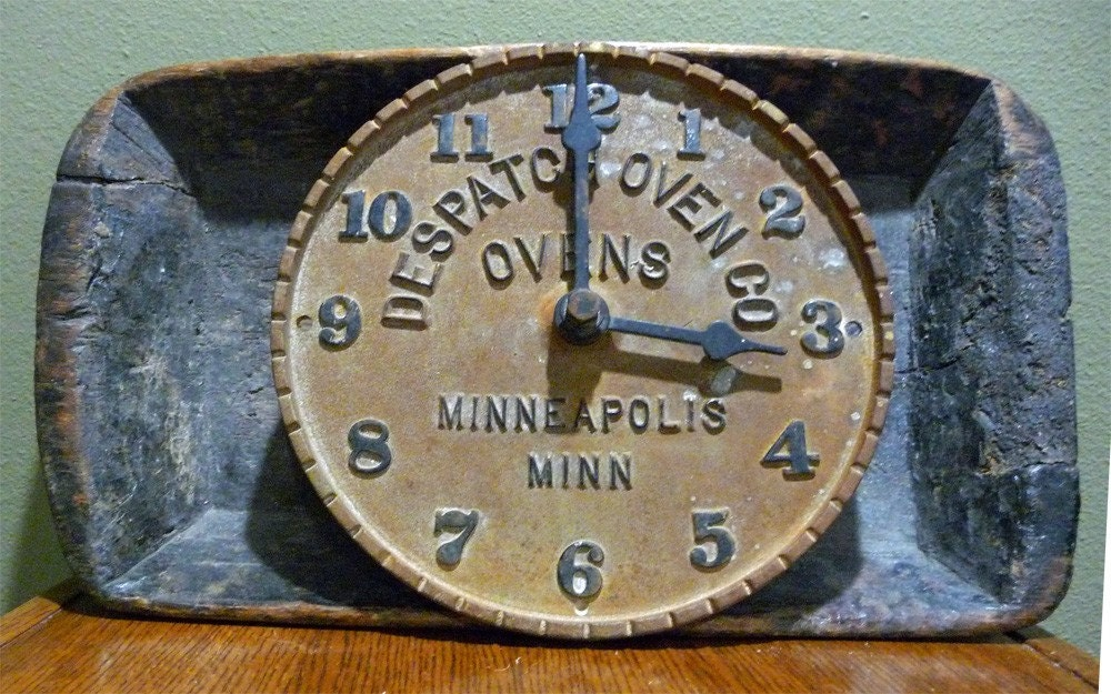 Antique Iron Clock Sign:  Despatch Oven Company