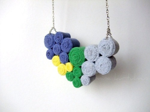 Fibre Bib Necklace