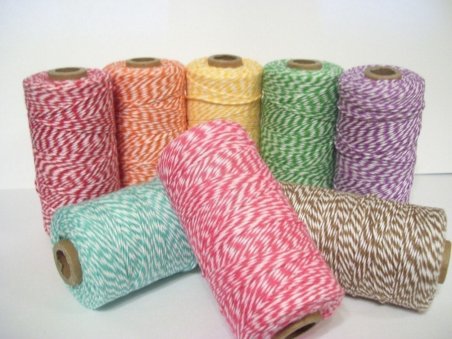 Baker's Twine Sampler Pack - 15 yards of each color - 8 colors - 120 yards total