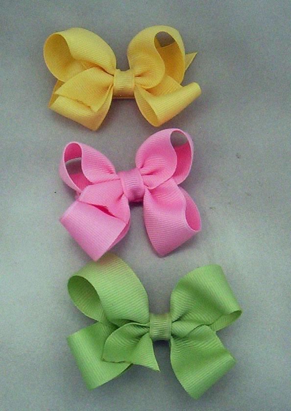 Toddler Bow Set of three Pastels