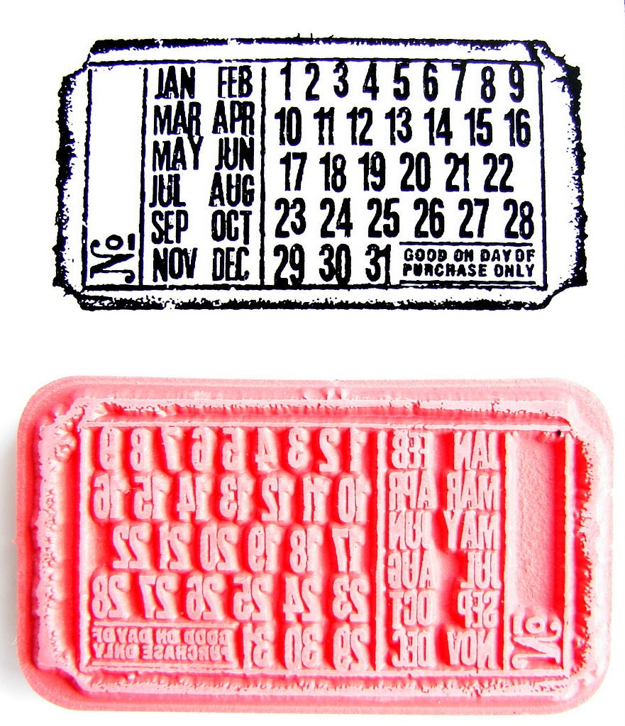 Perpetual Calendar Stamp : Unavailable listing on etsy