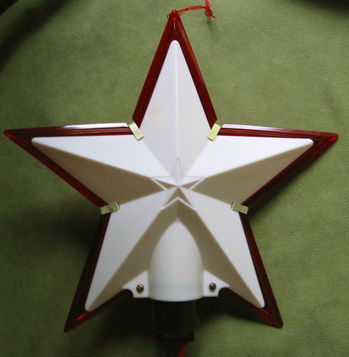 Vintage christmas star topper or outdoor by
