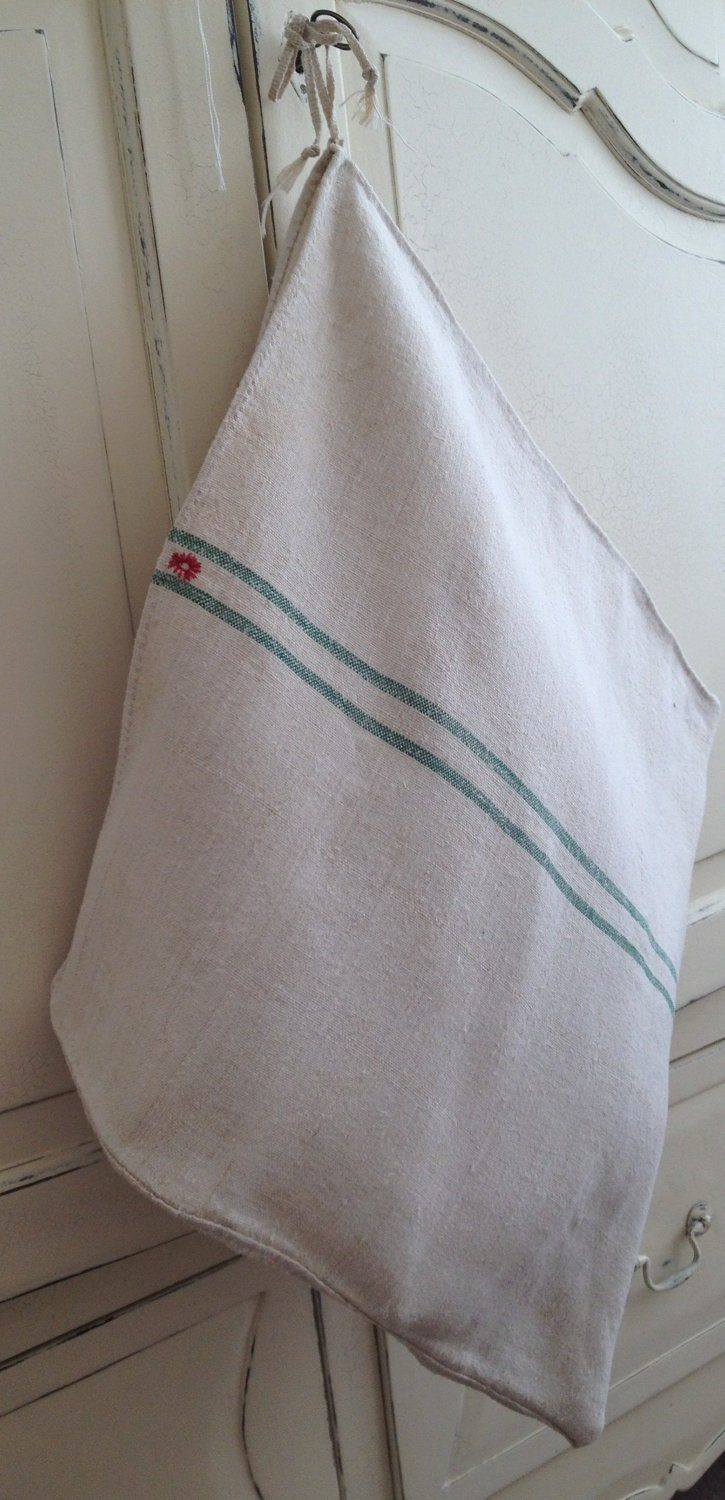 A Storage/laundry bag, homemade from Vintage sack