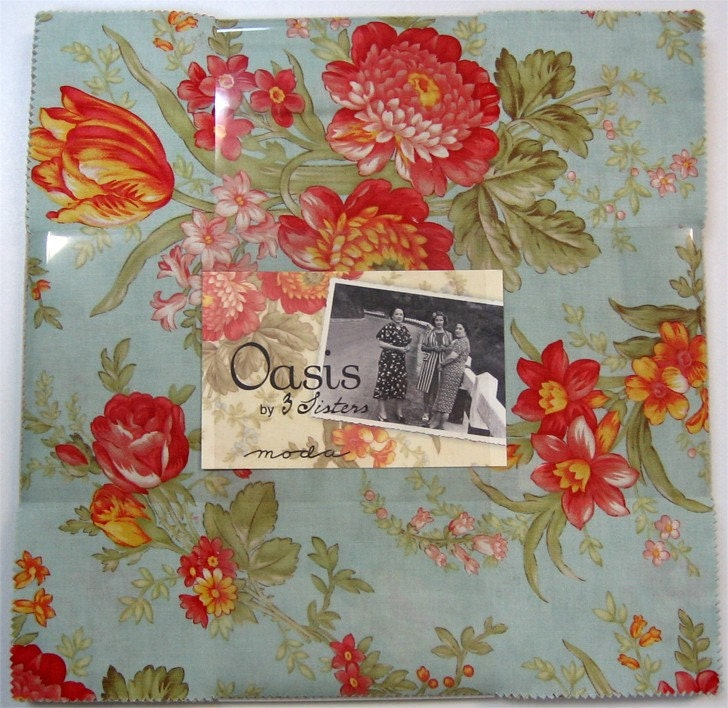 Layer Cake Quilt Fabric : OASIS Moda Fabric Layer Cake Ten inch quilt squares by ...