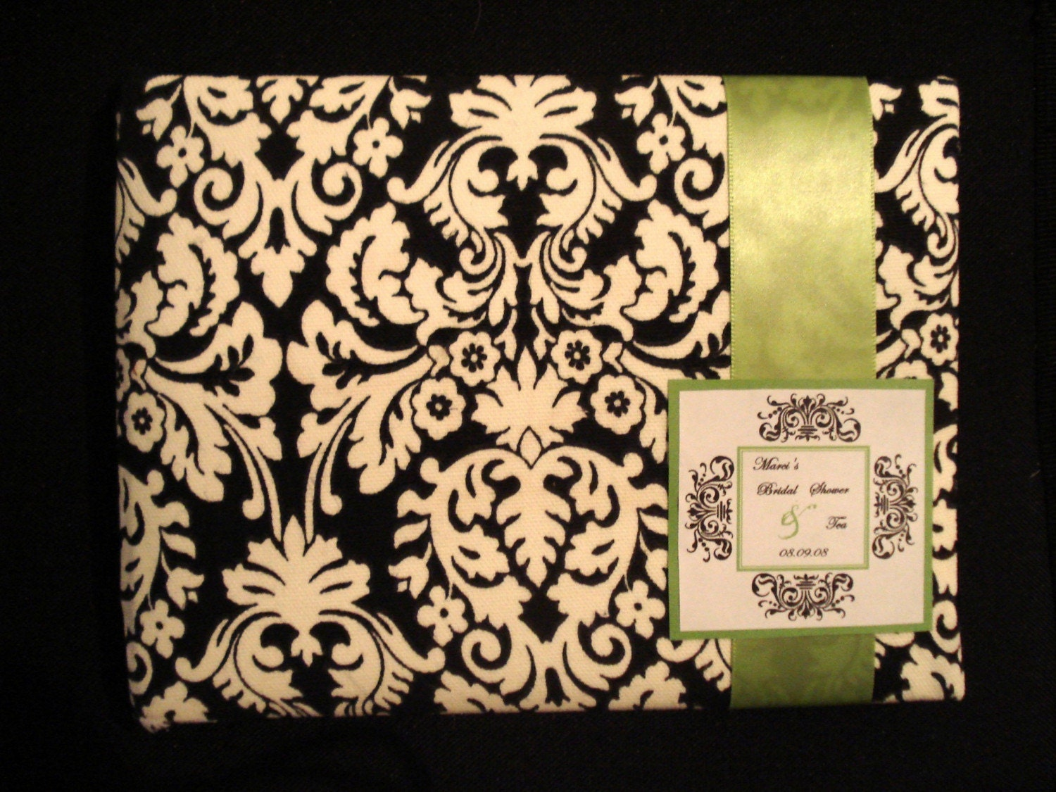 Custom Made Guestbook- Monogram Collection - Damask