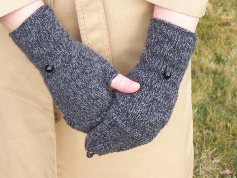 Knitting Pattern Fingerless Gloves Mitten Flap : Fingerless Flap Glove Knitting PDF PATTERN by PepperberryKnits
