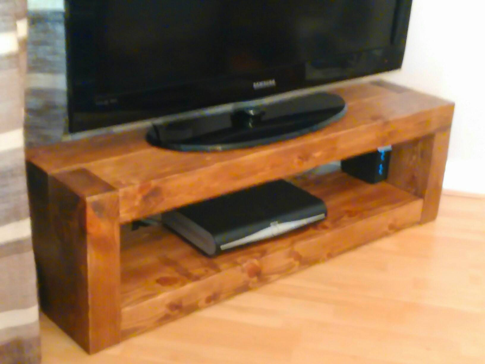 Super chunky TV stand  unit  solid wood  fully waxed  handmade to order  free delivery