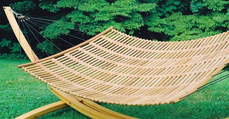 Teak Sling Lounger - Double Size