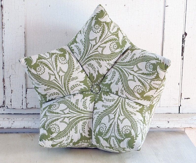Sage and Cream Nest Accent Pillow