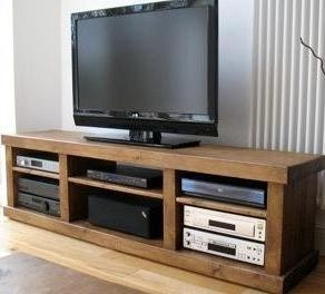 Rustic plank Furniture New Real Solid Wood Rustic Plank Pine Bench Tv Stand  ENTERTAINMENT UNIT  Bespoke pine FURNITURE  made to any size