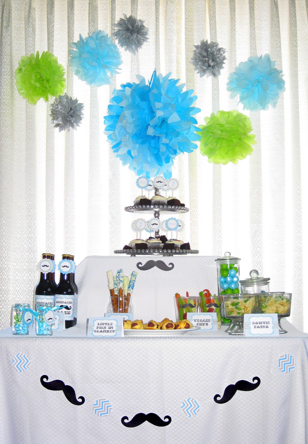 Little Man Mustache Bash Birthday Party By FabulousPartyDesigns