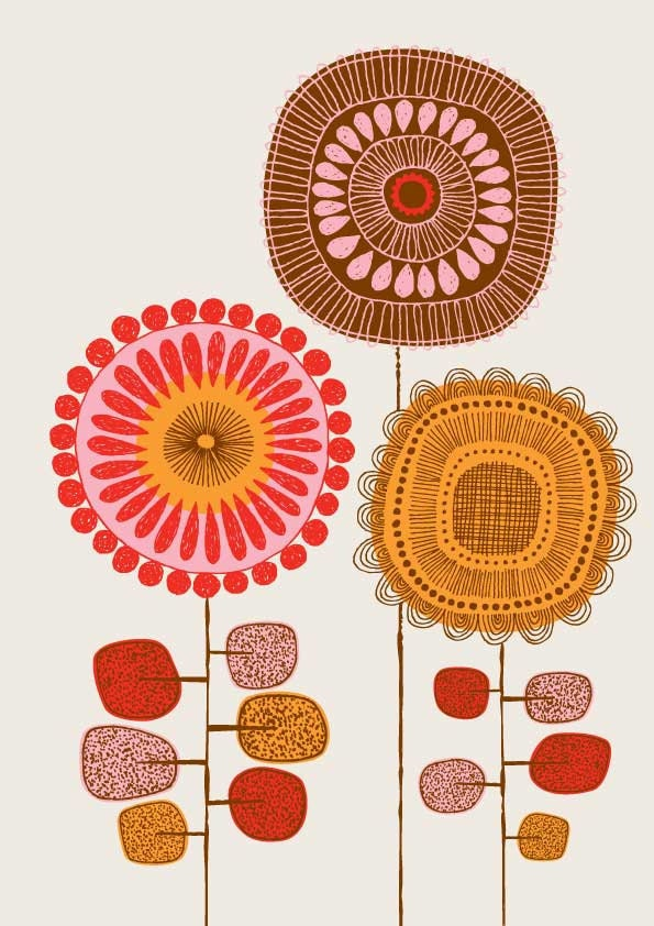 Poster Flowers No2, limited edition giclee print - EloiseRenouf