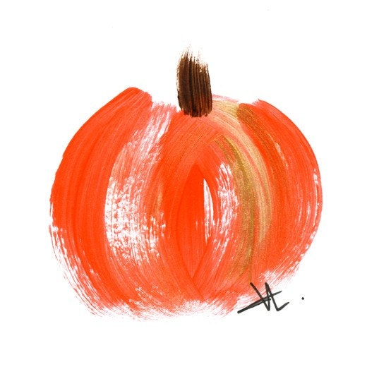 Pumpkin Brush Stroke Cards