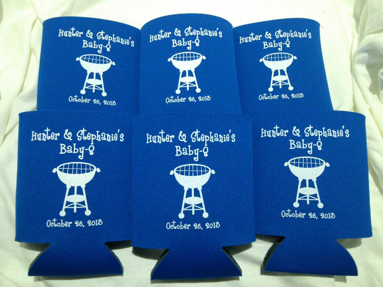 baby shower koozies personalized lot of 75 baby q custom can party