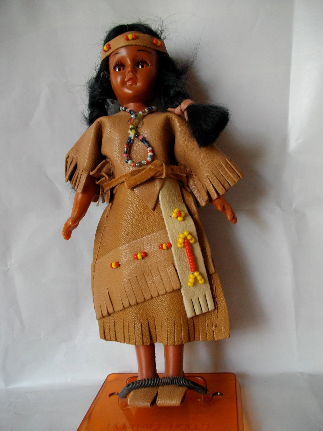 Vintage American Indian souvenir doll with by ...