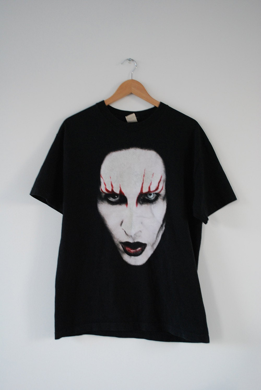 reserved marilyn manson t shirt 90s industrial by. Black Bedroom Furniture Sets. Home Design Ideas