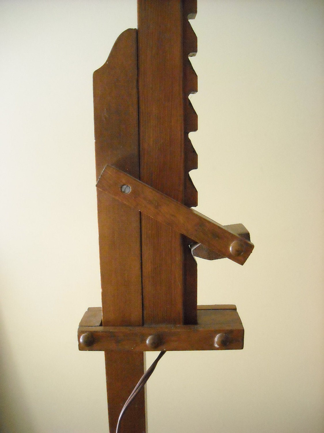 American arts and crafts style adjustable wood lamp by for Crafting wooden lamps