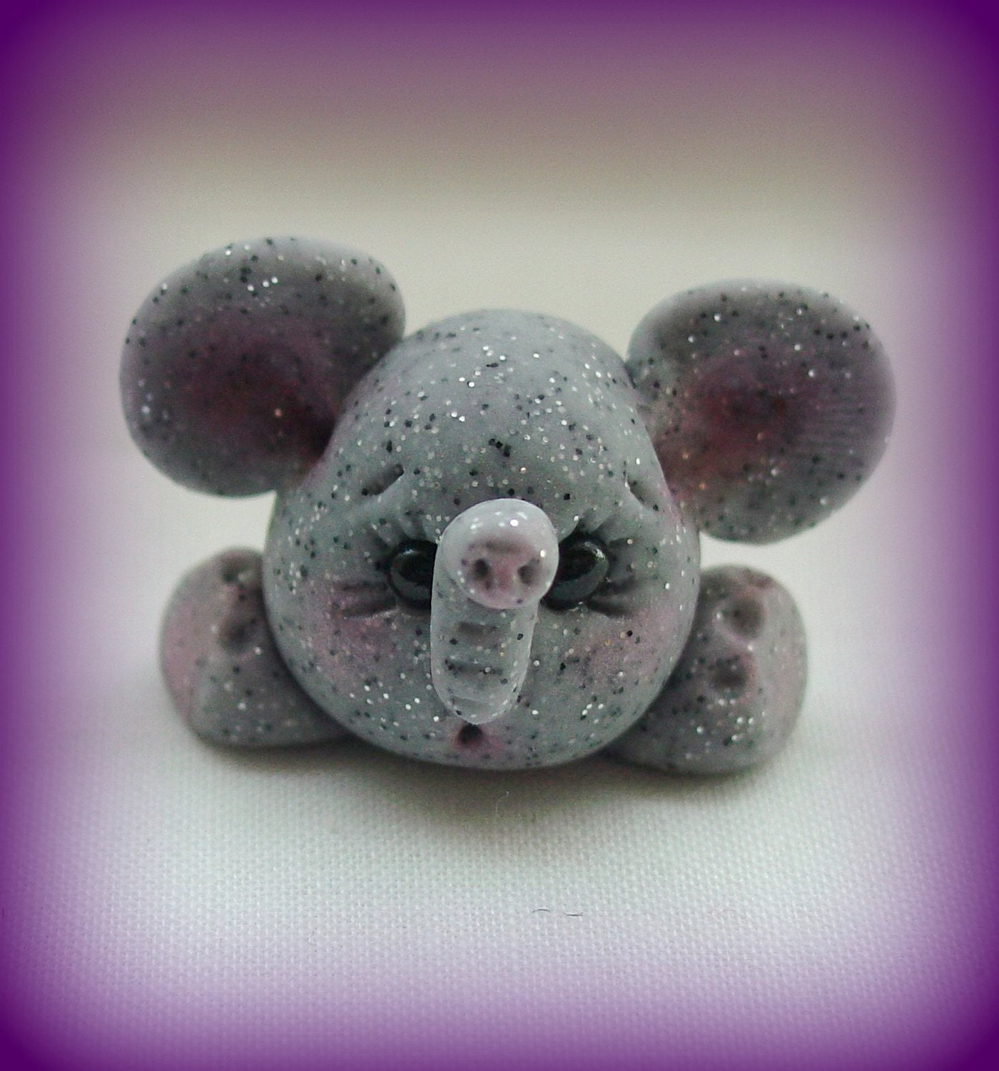 PET ROCK Elephant stone look polymer clay