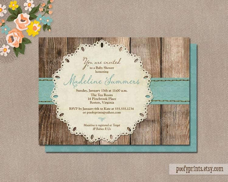 rustic baby boy shower invitations diy printable baby shower