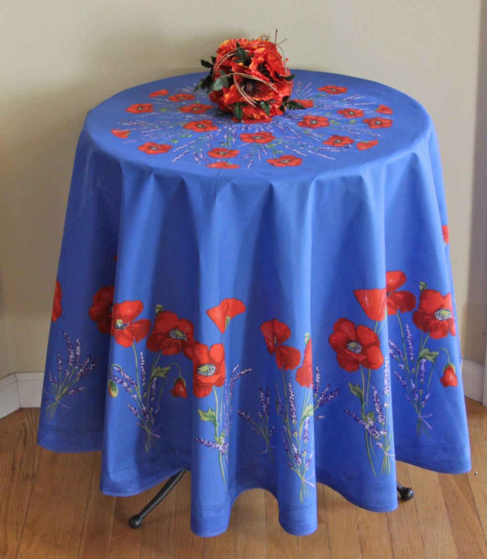 Indoor Outdoor Round 70 Tablecloth Coated By SoleildeProvence