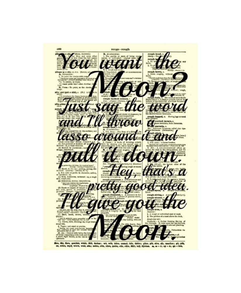 Lasso The Moon It 39 S A Wonderful Life Quote By Reimaginationprints