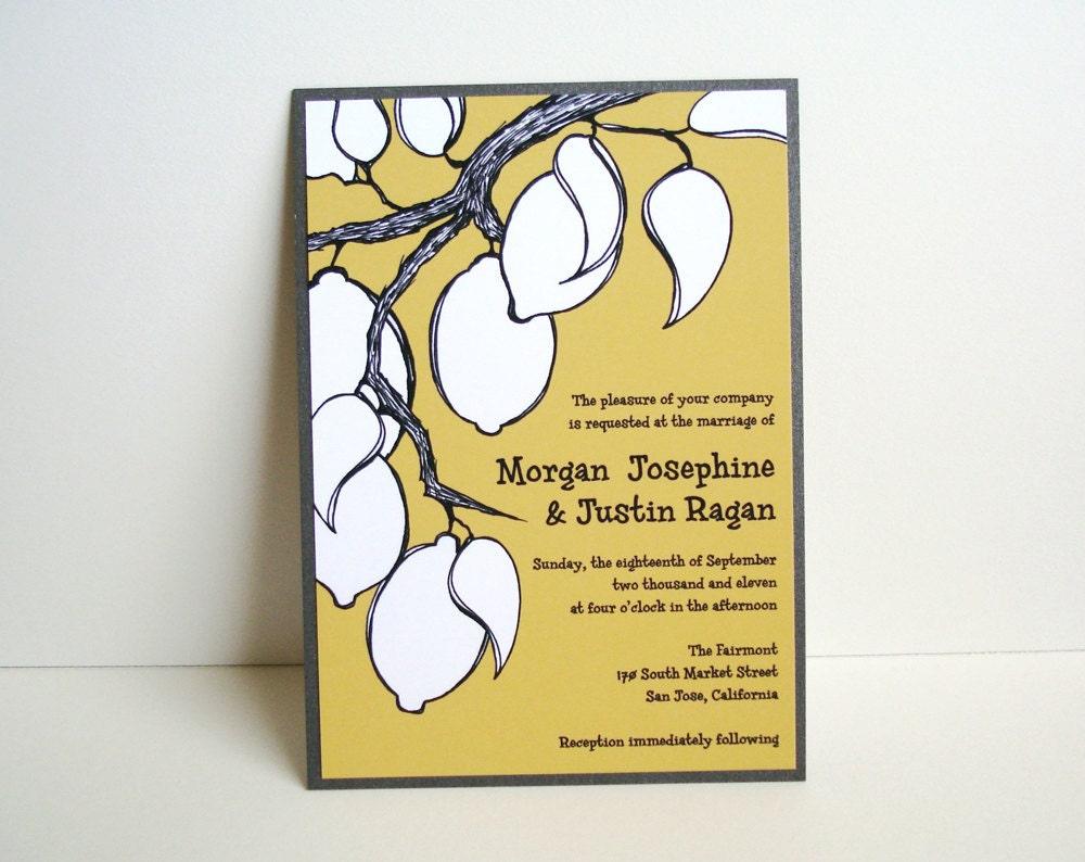 100 Lemon Tree Branch Wedding Invitations From ShopOlio