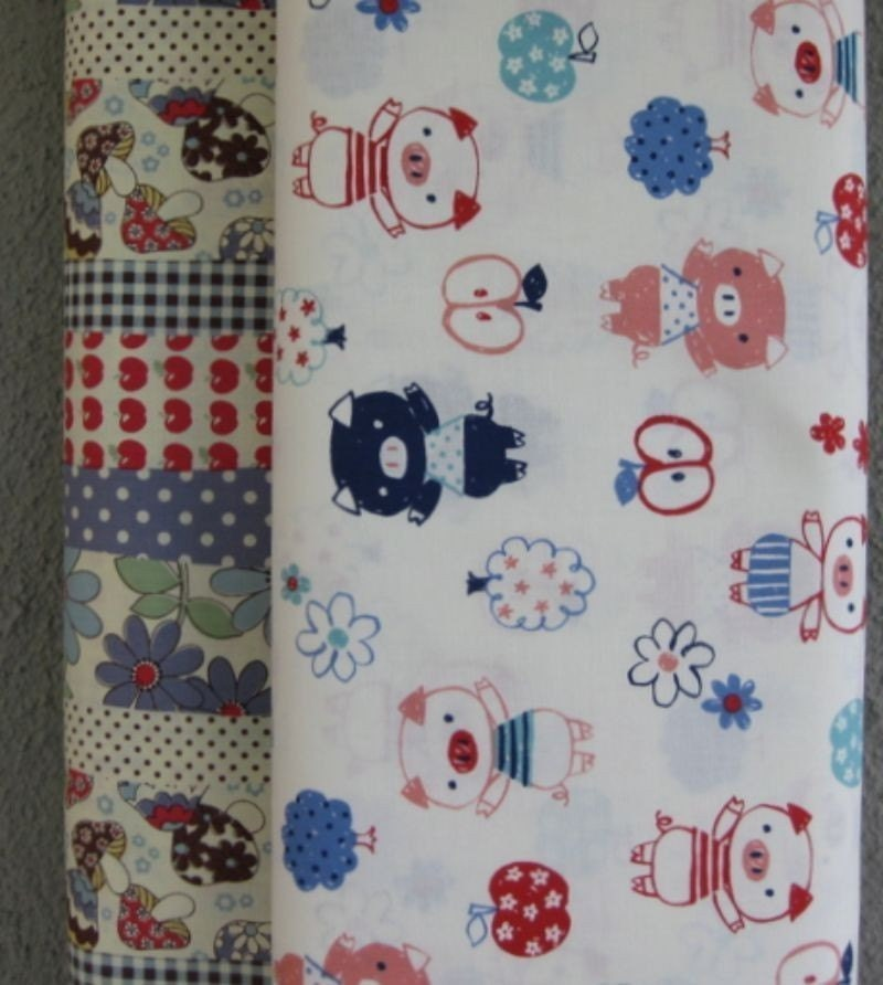 new patchwork piggies bundle from kokka- japan- half yards