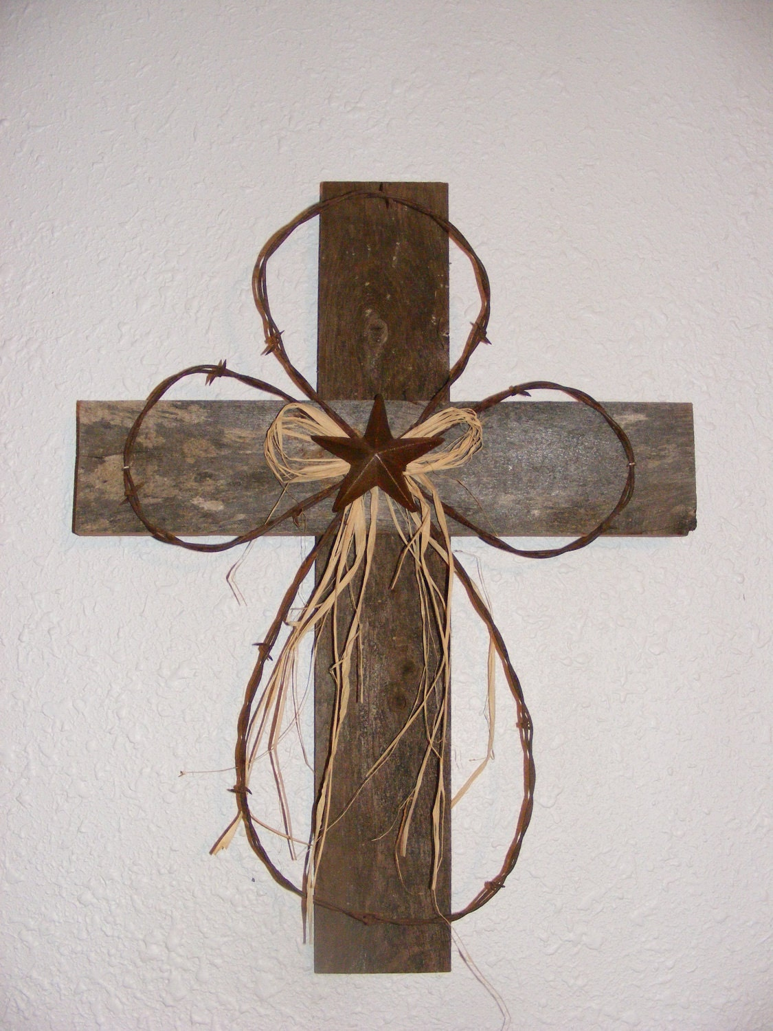 Rustic wood cross by arustictouch on etsy for Rustic wood crafts ideas