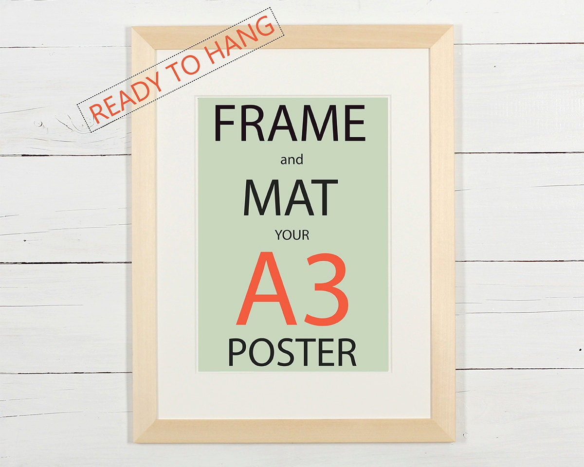 Poster frame matted for 18x24