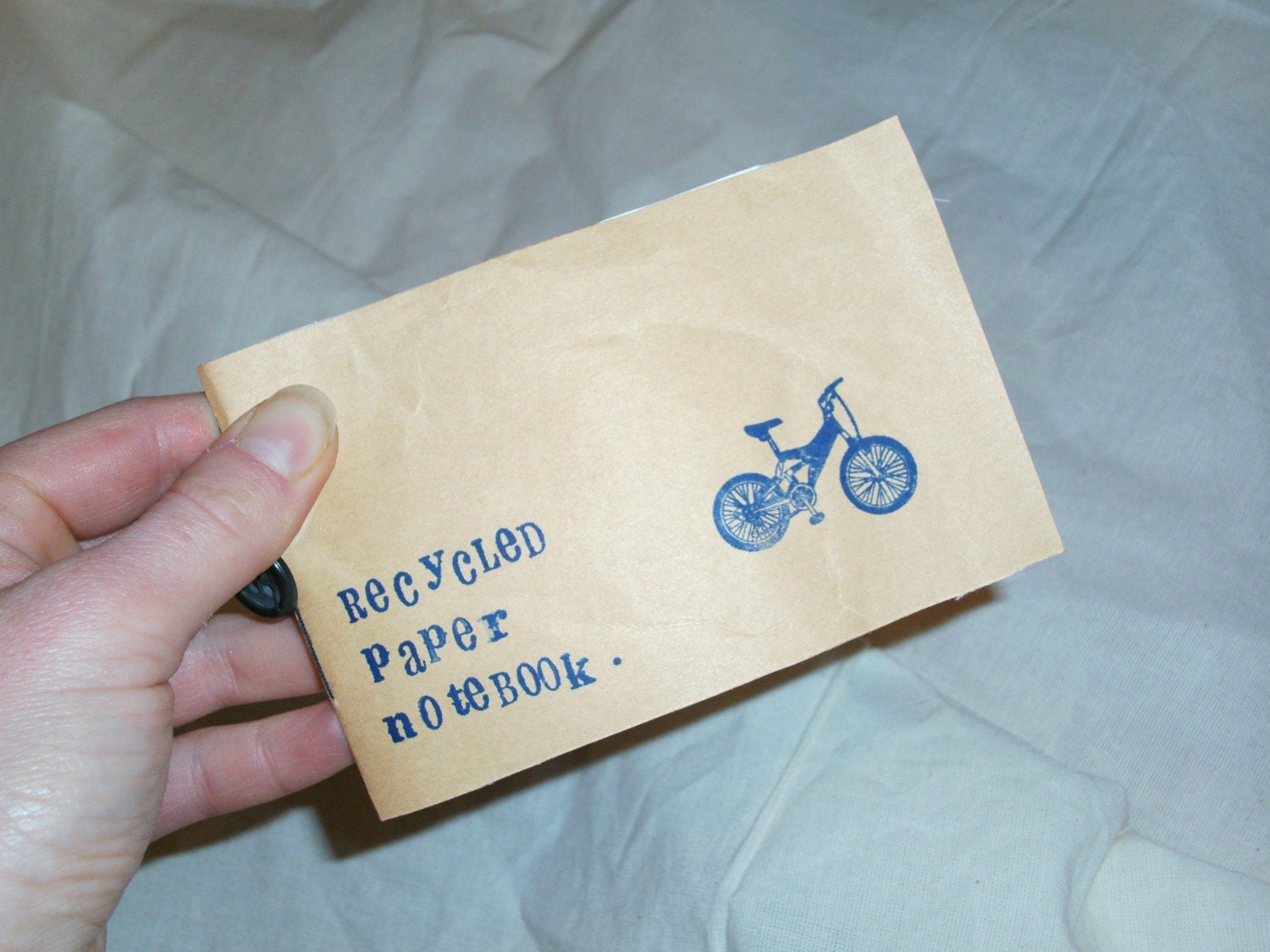 Recycled paper notebook (bike)