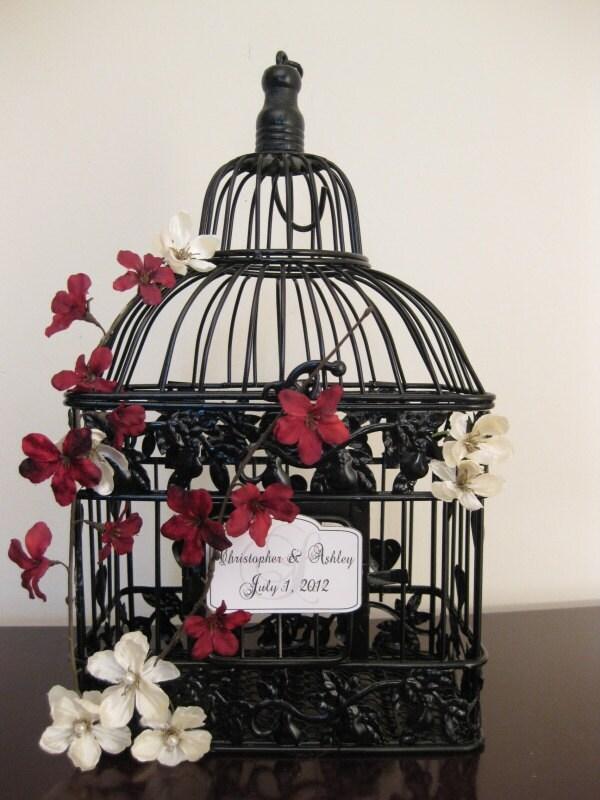 Red Floral Arrangement Weddings Cheap Wedding Reception Ideas Homemade Wedding Ca Black Bird