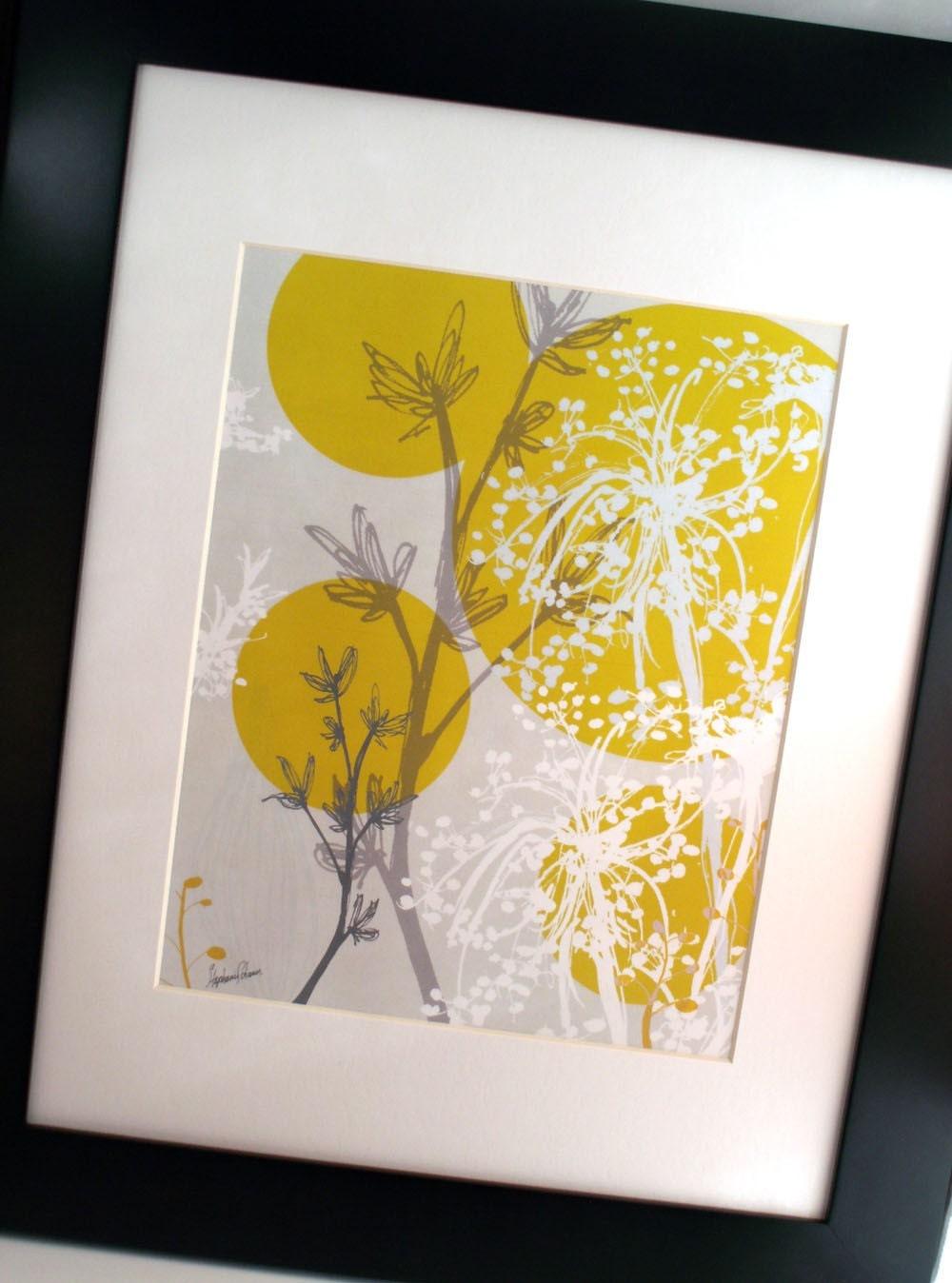 yellow spring ORIGINAL ART print