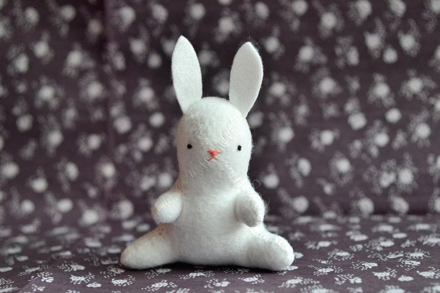 the white rabbit - bunny plush