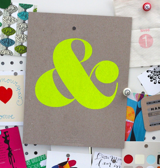 Ampersand Screen Print - Neon Yellow (2nd Edition)
