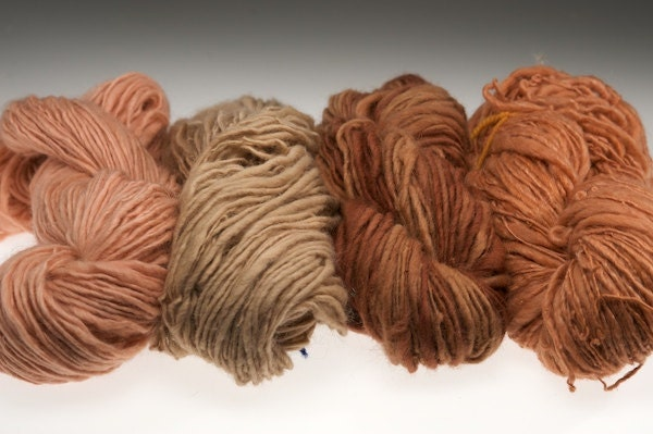 Singularities 11 Madder root mohair and wool yarn eco friendly naturally dyed 7.8 oz - girlwithasword