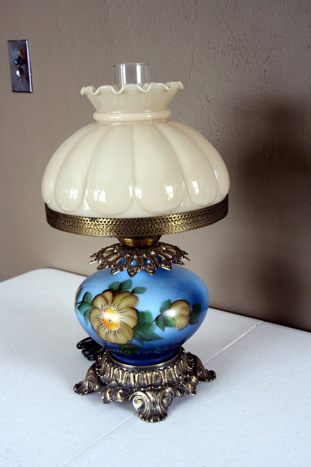 Gwtw Parlor Lamp L Amp L Wmc 1971 Handpainted By