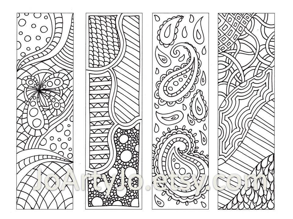 Zendoodle Bookmarks Diy Zentangle Inspired Printable By Free Printable Zentangle Coloring Pages