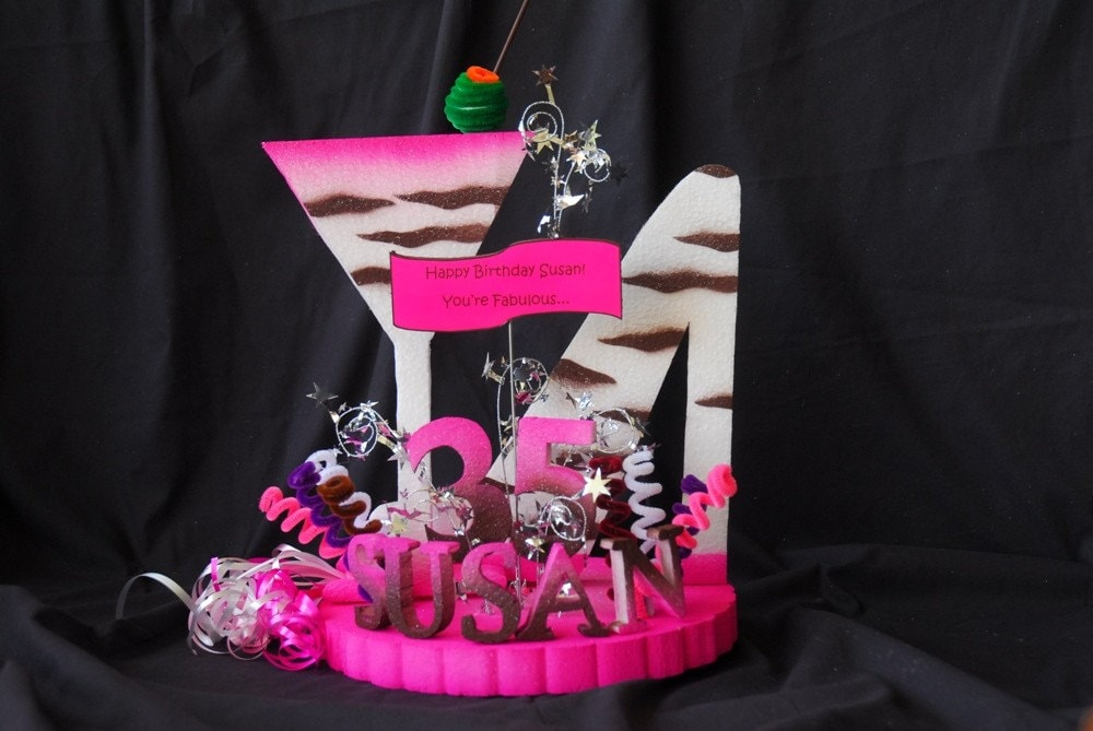 cake stand out and it matches with the Girls Night Out birthday party