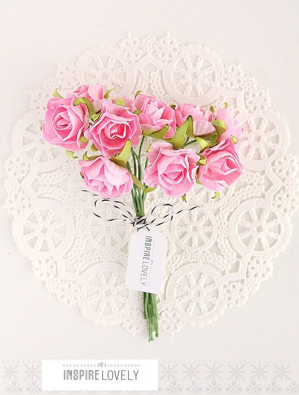 Lovely Paper Floral bunch - Pretty in Pink