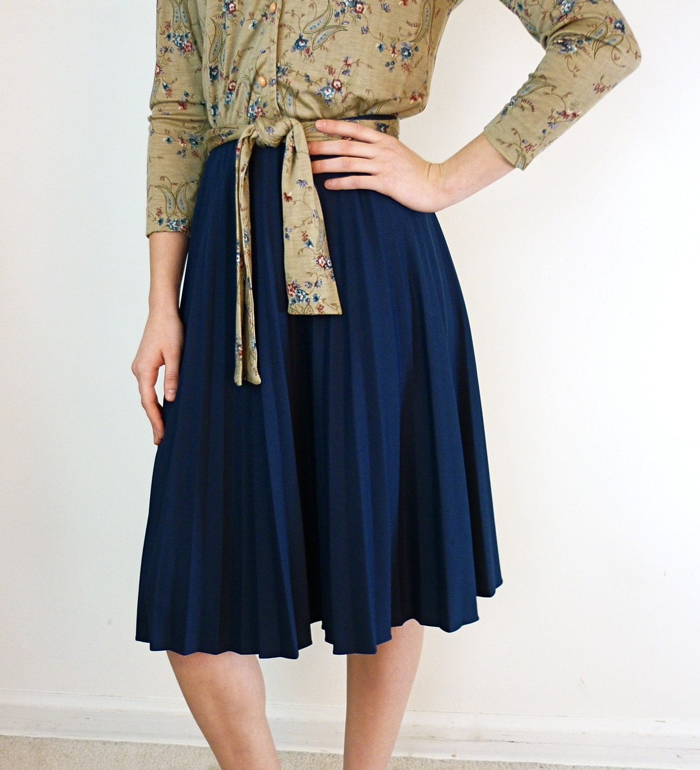 accordion pleated skirt navy blue pleated skirt by