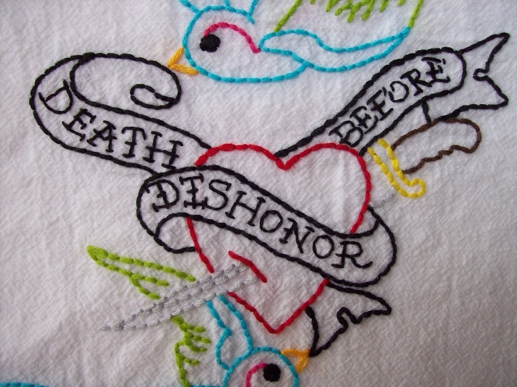 Death Before Dishonor Towel I love