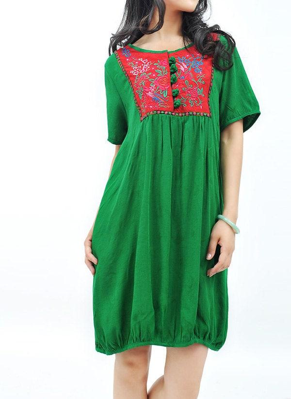 چینی شیک Babydoll لباس / 3 رنگ