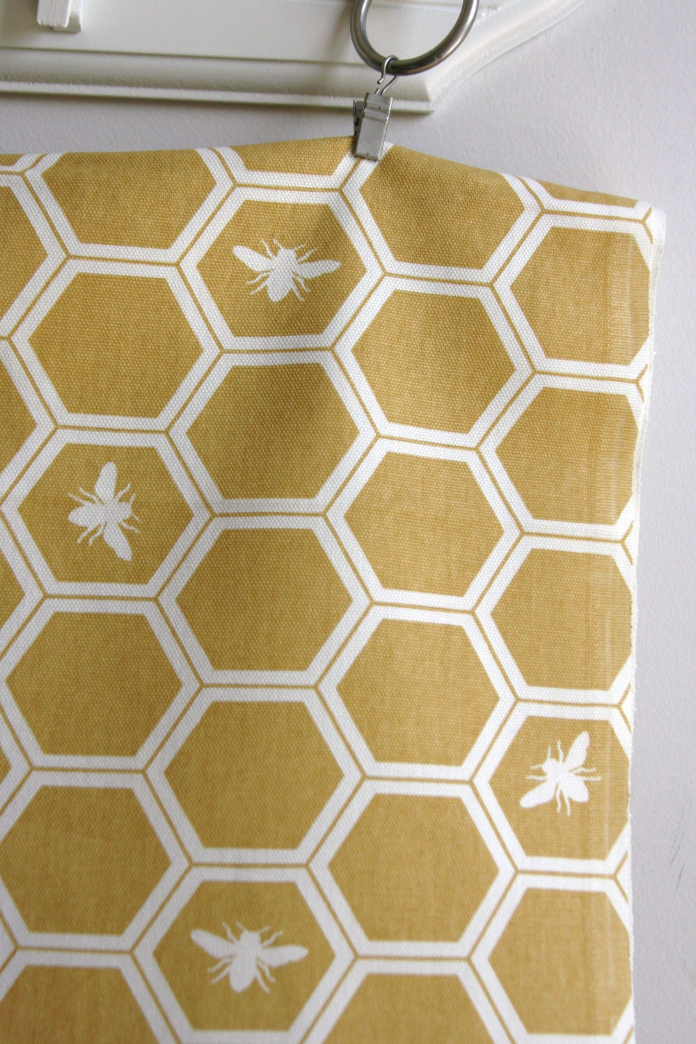 Organic Honeycomb in Sun in Home Decor Canvas - The Grove Collection - ONE  FAT QUARTER  Cut - SewFineFabric