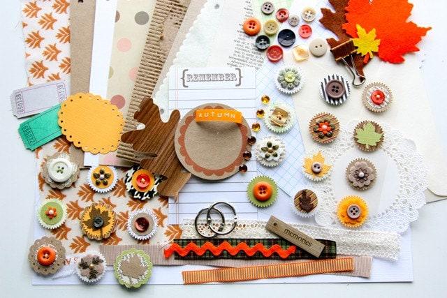 Shades of Autumn Memory Art Journal Kit