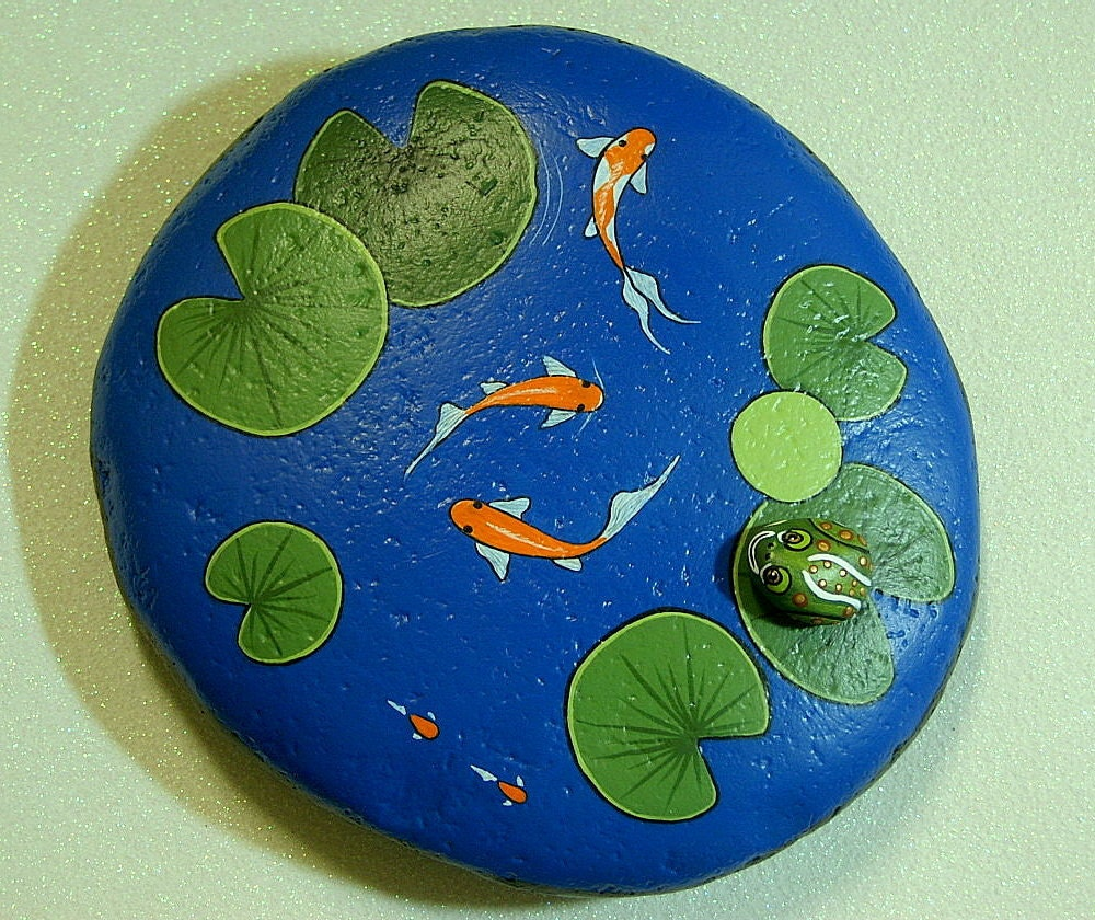 Koi pond large weatherproof rock garden decor by rockartiste for Koi fish pond rocks