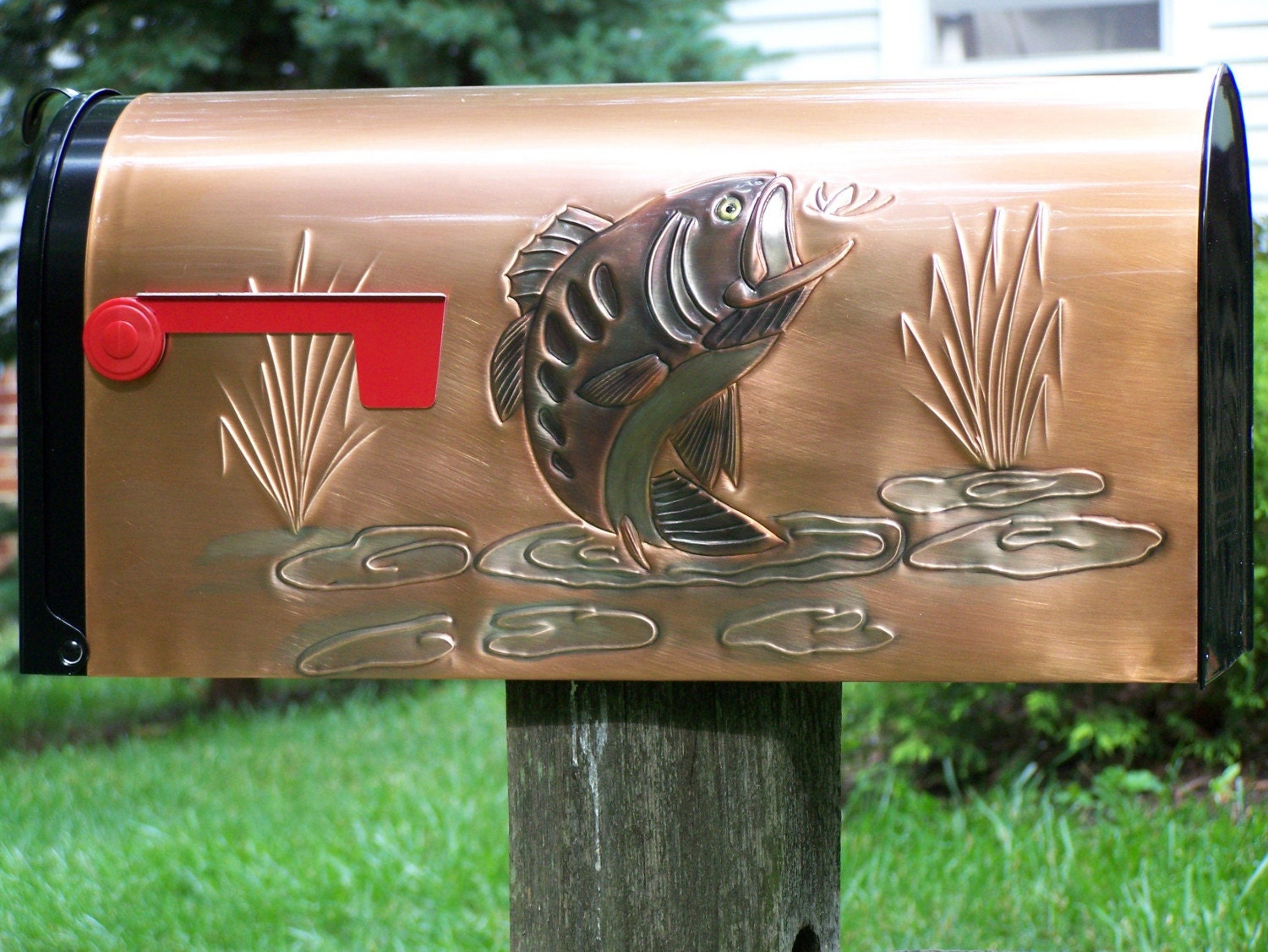 Bass rural mailbox by weavercopperdesigns on etsy - Unique mailboxes for rural ...