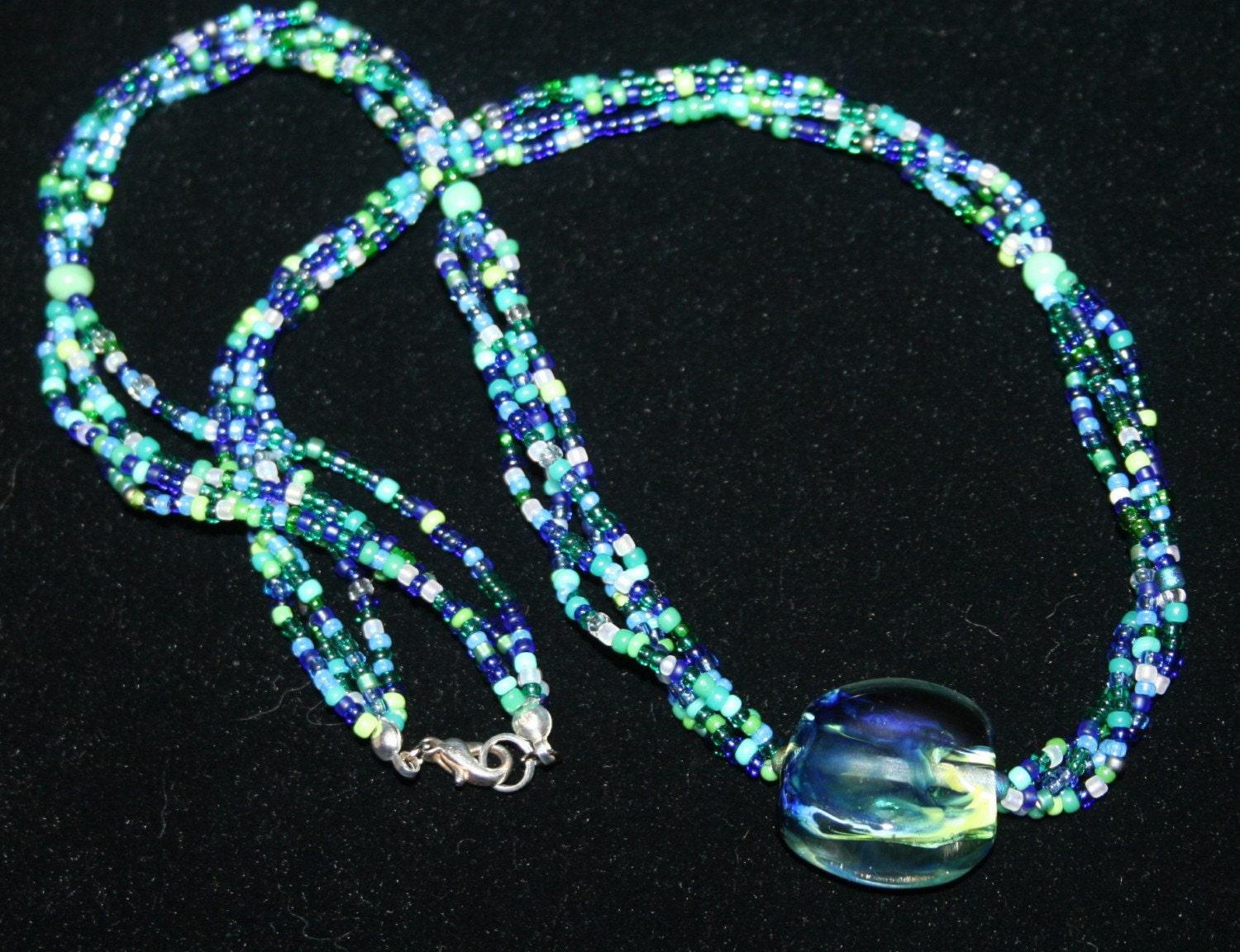 Coco Bleu Lampwork and Seed Bead Necklace