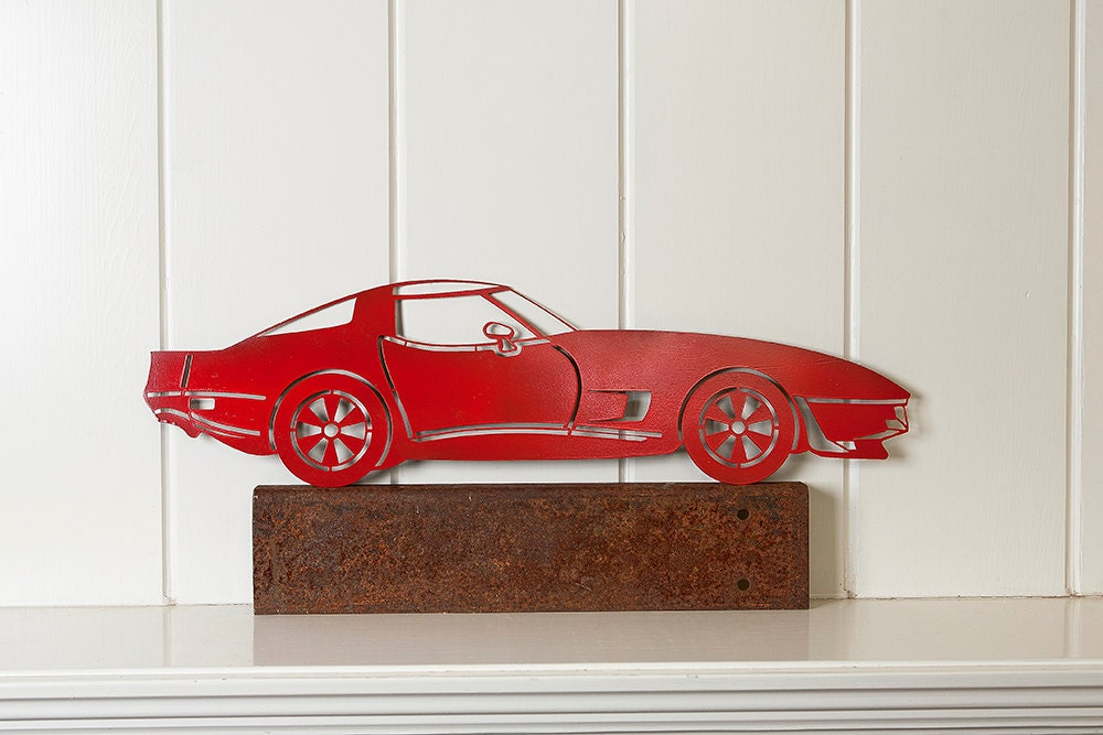 Little Red Corvette-Steel Art Silhouette-Handmade for You