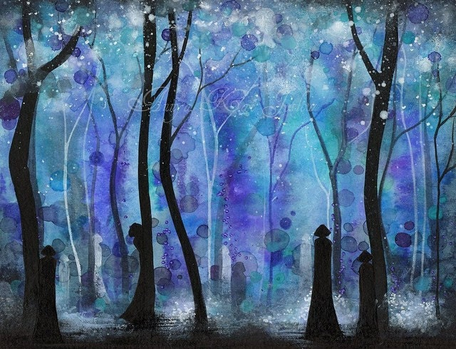 ORIGINAL Painting - Haunted by Shadows