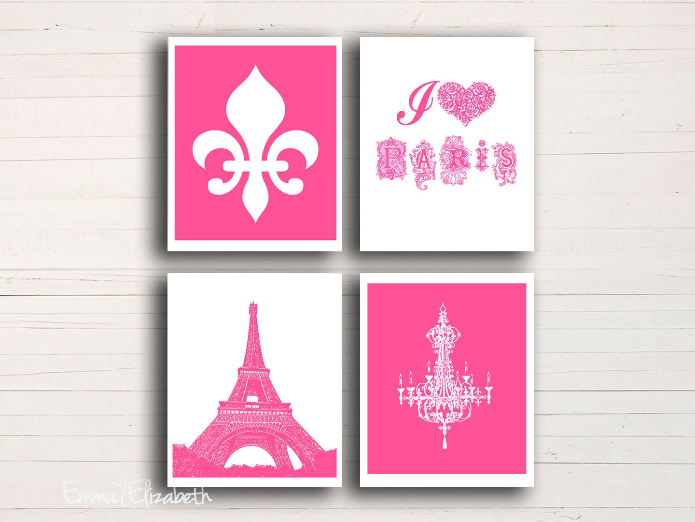art print paris eiffel tower wall decor french chandelier fleur de lis